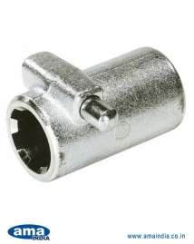 Splined Coupling with Button